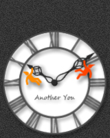こびとさんが針にぶらさがって、バランスをとっているアナログ時計です。こびとさんに触れると、針から落ちてしまいます。