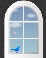 カラフルな小鳥たちがブログ画面を飛び回り、お好きなつぶやきを表示できる小鳥がブログ画面下をちょこちょこ動きます。