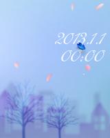 日付と時間が表示され、四季で景色が移り変わります。指定した日には打ち上げ花火が上がります。